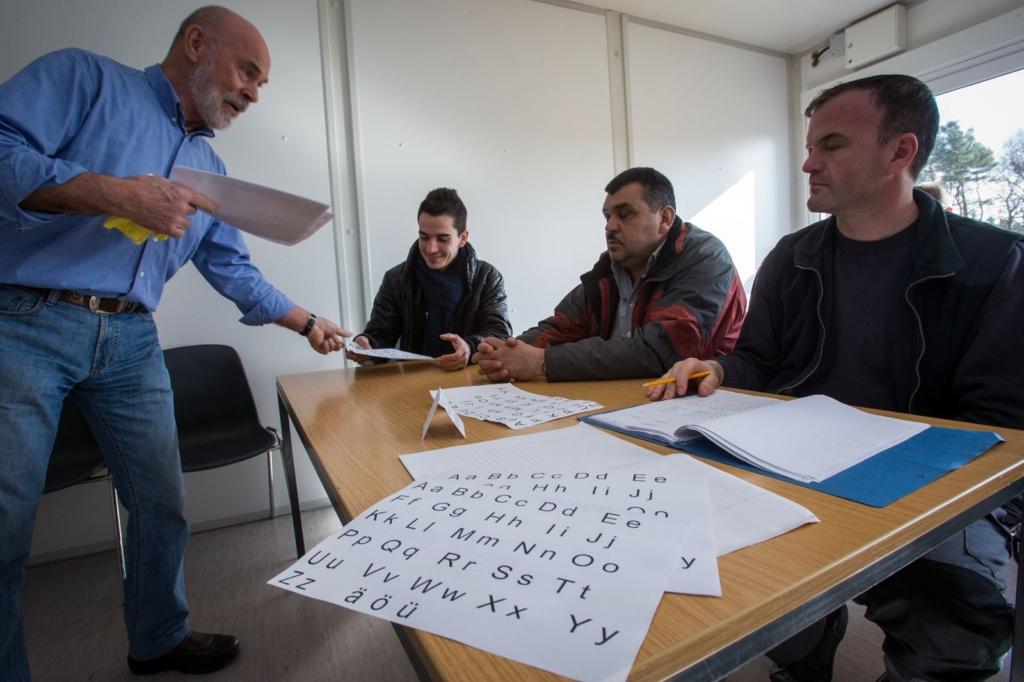 Asylbewerber im Deutschunterricht
