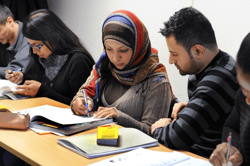 Migranten im Integrationskurs