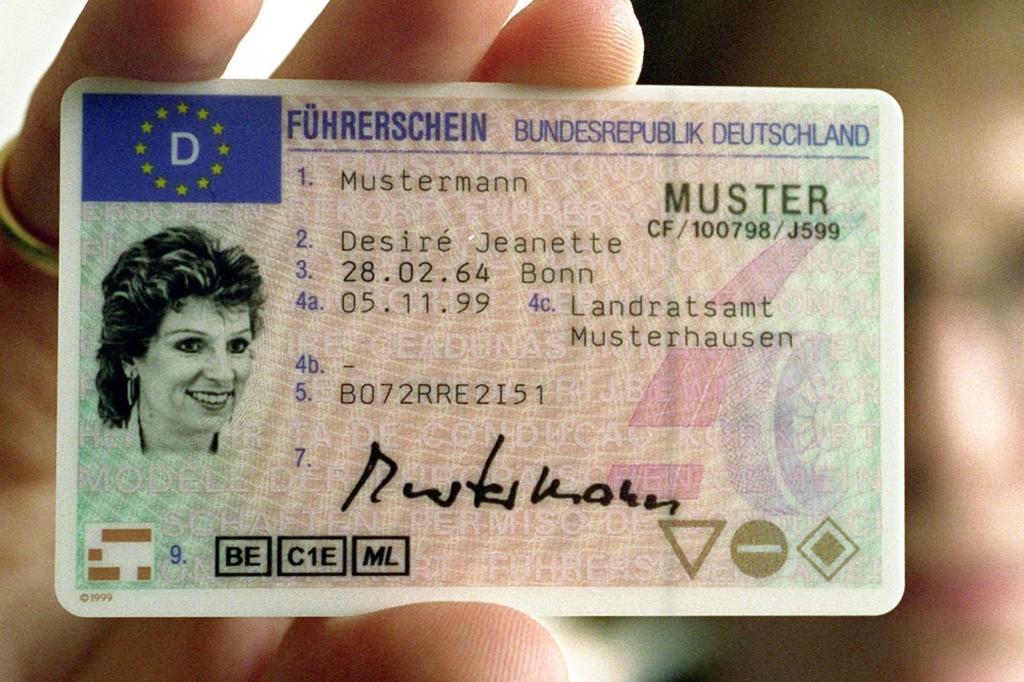 Muster eines deutschen Führerscheins