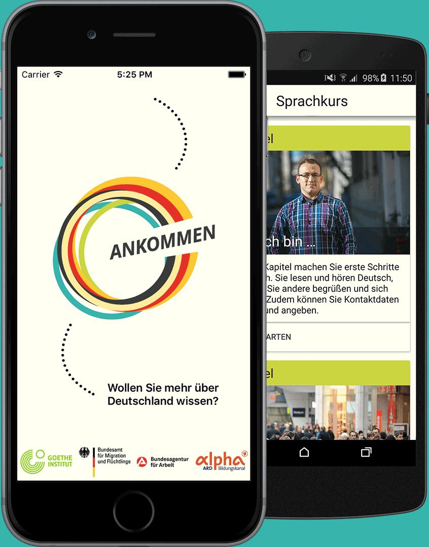 Handyansicht der App