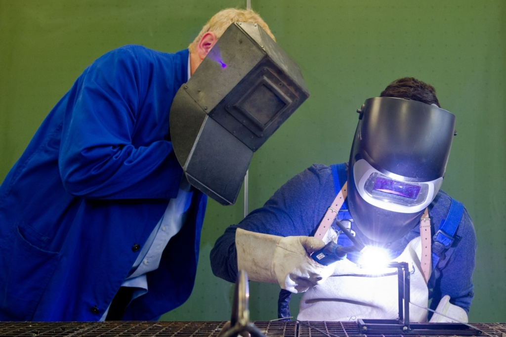 Training to become a welder